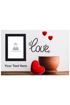 Ardent Love Personalized Valentine Landscape Poster