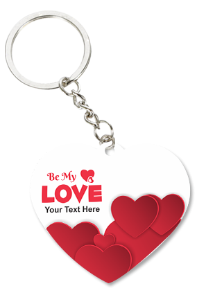Be My Love Valentine Heart Key Chain