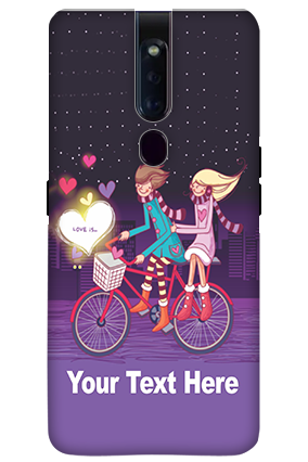 3D-OPPO F11 Pro Ride Valentine's Day Mobile Covers
