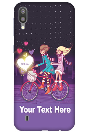 3D-Samsung Galaxy M10 Ride Valentine's Day Mobile Covers