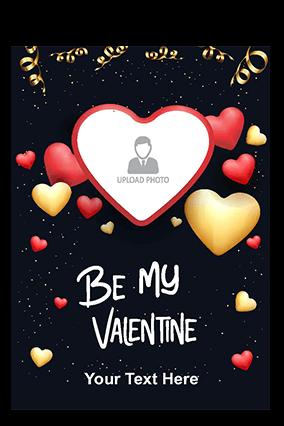 Be My Valentine Valentine's Day Greeting Card