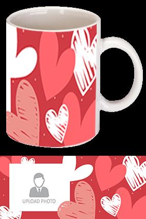 Custom Photo with Heart White Coffee Mug