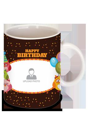 Gemmed Birthday Bone China Mug