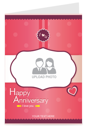 Magnetic Anniversary Greeting Card