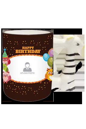 Celebration Zebra Handle Mug