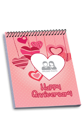 Personalised Anniversary Celebrations Top Spiral Notebook