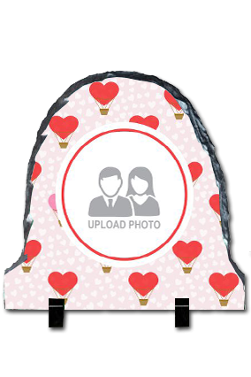Hearts Up Round Photo Rock