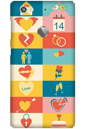 Transparent Silicon - Creative Valentine's Day  Letv Le 1S Mobile Cover