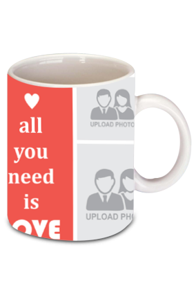 All You Need Is Love Valentine's Day Bone China Mug