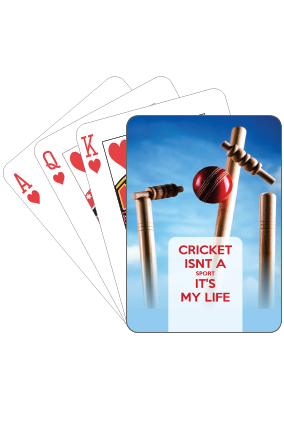 Just Cricket Playing Cards