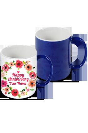 Customized Floric Blue Magic Mug