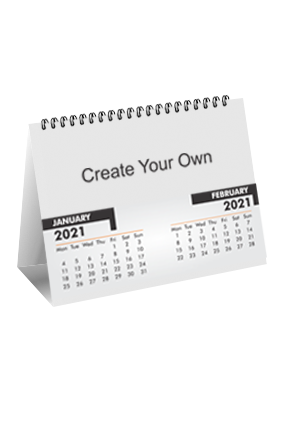 Create Your Own Desk Photo Calendar(8 x 6 Inches) - 6 Leaves