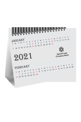Plain White Theme Desk Photo Calendar(8 x 6 Inches) - 6 Leaves