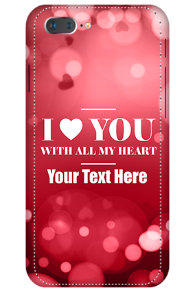 3D -  IPhone 7 Plus I Love You Valentine's Day Mobile Cover