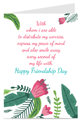 Buy personalized friendship day greeting cards online in india with adorable friendship day card m4hsunfo