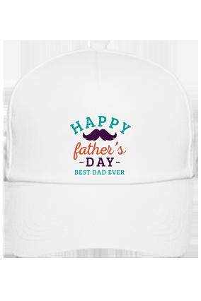 Best Dad Ever White Cap