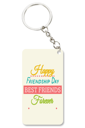 Adorable White Small Rectangle Key Chain