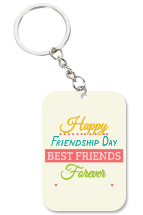 Adorable White Big Rectangle Key Chain
