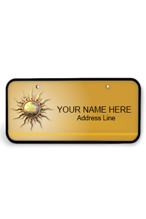 Golden Sun Wooden Nameplate