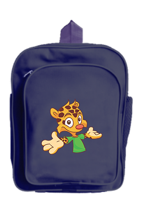 Personalised Funny Animal School Bag