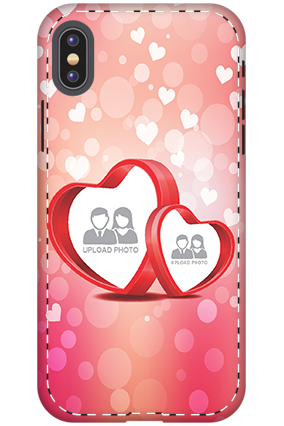 3D - Apple iPhone X Floral Hearts Anniversary Mobile Cover