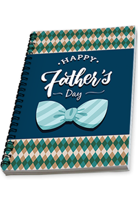 Customized  Love You Papa Father's Day Notebook