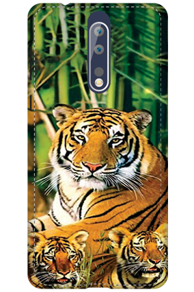 3D - Nokia 8 Tiger Image Mobile Cover
