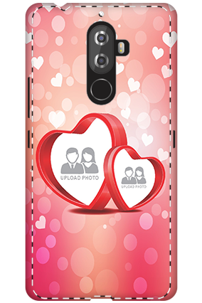 3D - Lenovo K8 Note Floral Hearts Anniversary Mobile Cover