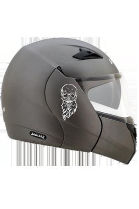 Beardy Skull Vega Boolean Dull Anthracite Helmet