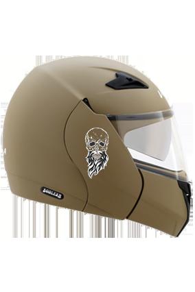 Beardy Skull Vega Boolean Dull Desert Storm Helmet