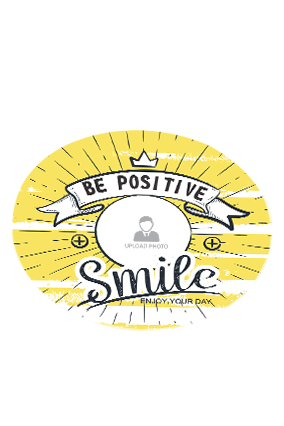 Be Positive Round Printed Coaster