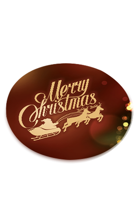 Christmas Tree Frame Merry Christmas Round Coaster