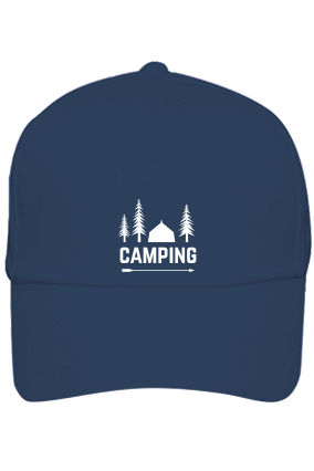 Camping in Woods Cotton Blue Cap