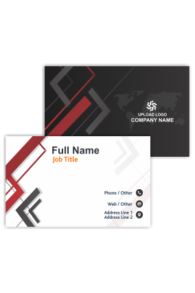 Abstract Black and Red Office Visiting Card