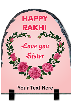 Lovely Sister Pink Photo Printed Up Round Photo Rock