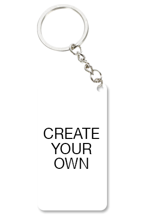 Create Your Own Small Rectangle Key Chain
