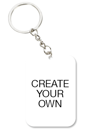 Create Your Own Big Rectangle Key Chain