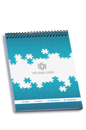 Artful Top Spiral Business Notebook