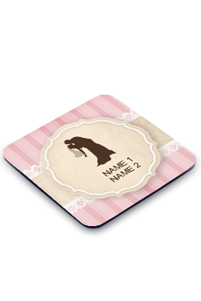 Kiss Of Love Square Printed Coaster