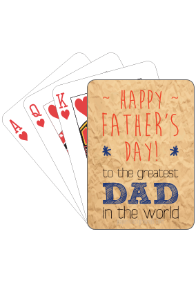Greatest Dad  Fathers Day Playing Cards