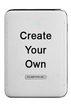 Create Your Own 10050mAh Ambrane Power Bank White