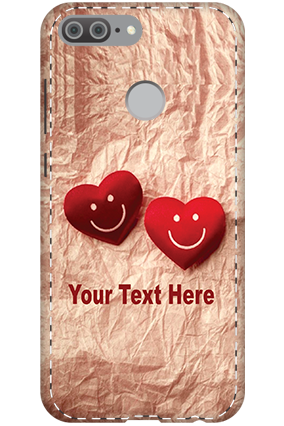 3D - Huawei Honor 9 Lite Smiley Hearts Mobile Cover