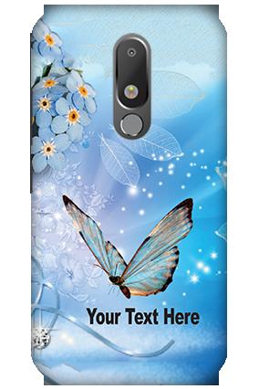 3D - Motorola Moto M Blue Butterfly Mobile Cover