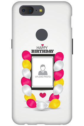 3D - OnePlus 5T Birthday Balloons Mobile Cover