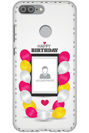 3D - Huawei Honor 9 Lite Birthday Balloons Mobile Cover