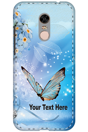 3D - Xiaomi Redmi Note 5 Blue Butterfly Mobile cover
