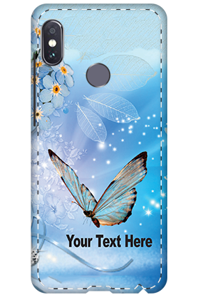 3D - Xiaomi Redmi Note 5 Pro Blue Butterfly Mobile Cover