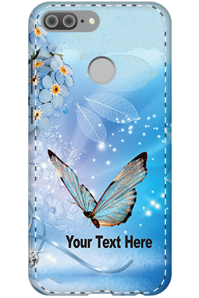 3D - Huawei Honor 9 Lite Blue Butterfly Mobile Cover