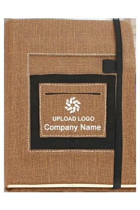 A5 Notebook With Mobile Pocket, Card Holder Pocket & Pen Loop By Castillo Milano-B92