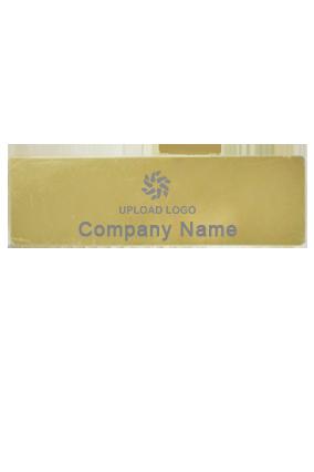 Golden Metal Rectangle Badge